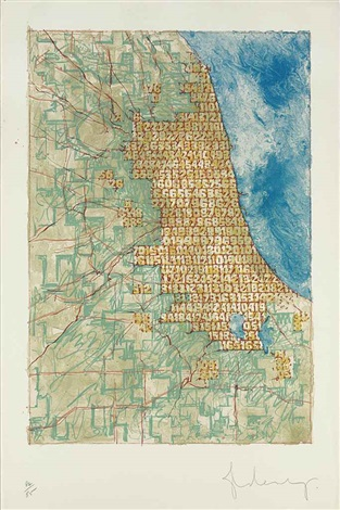 chicago stuffed with numbers by claes oldenburg