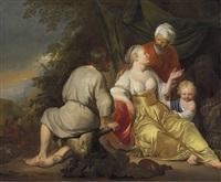 rachel and laban by hendrik heerschop