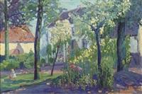 sunny garden by jan kruysen