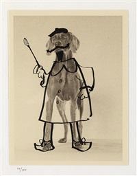 untitled (hats) (3 works) by william wegman