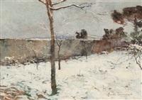 paesaggio invernale by adolfo tommasi