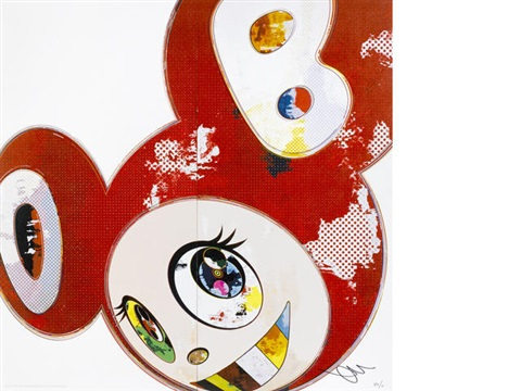 and then x6 red jellyfish eyes 2 works by takashi murakami