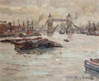 a view of tower bridge by jean de lafontinelle