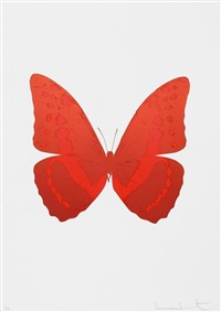 souls iii - burgundy/chilli red by damien hirst