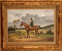 chasseur à courre sur son cheval by jonny audy