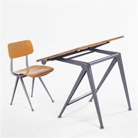 Revolt Chair And Drafting Table By Friso Kramer