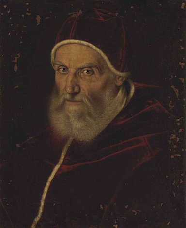 portrait of pope gregory xiii bust length by scipione pulzone