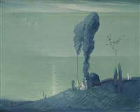 moonwatchers by leon dabo