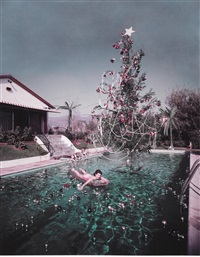 christmas swim by slim aarons