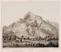 untersberg (from salzburg und seine angraenzungen, collab. w/leopold rottmann) by georg pezolt
