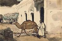 chamelier à marrakech by jean bouchaud