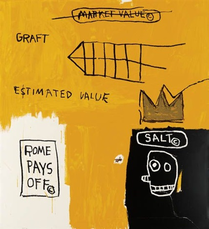 rome pays off by jean michel basquiat