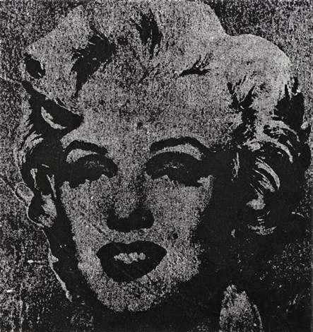 not warhol one silver marilyn 1962 by mike bidlo