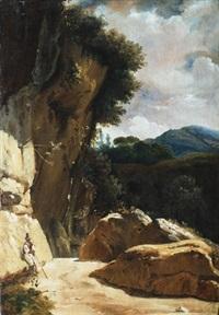 paesaggio roccioso con figura by gabriele smargiassi