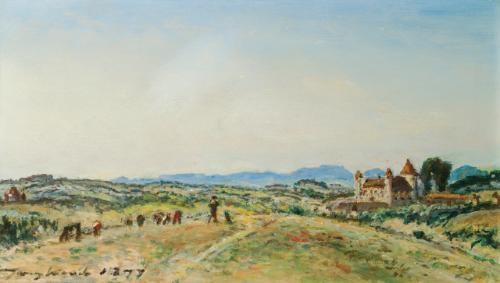 le chateau de virieu sur bourbre isere by johan barthold jongkind