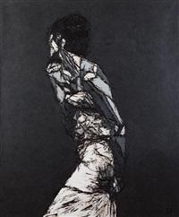 mondine femme à la robe by mondine de caupenne fleurette