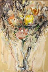 a vase of flowers by nel erasmus