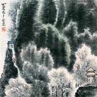 翠岚山亭 by li keran