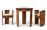 table losangique (set of 3) by albert cheuret