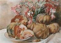 a still life with pumpkins by willem elisa roelofs