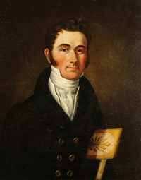 portrait of a man by george esten cooke