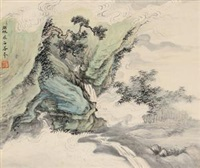 临王翚山水 by wu hufan