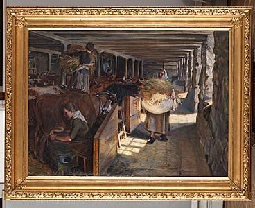 middagsfodring i en ladugård by martin aronson liljegral