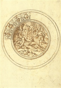 basin with the drunkenness of noah (design) by jacopo strada