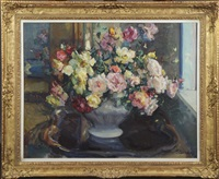 vase garni de fleurs by hubert glansdorff
