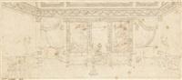 projets d'architecture d'intérieur: salle de billard (+ 2 others; 3 works) by percier et fontaine