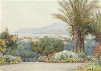 mentone and monte carlo from the capo bordighera by ernest arthur rowe