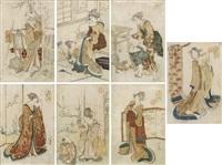 kinginzuri, nishiki-e by katsushika hokusai