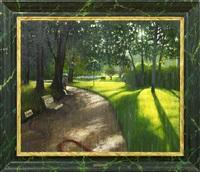 pluie de juin au parc monceau by sergio ceccotti