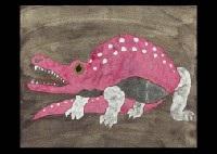 pink crocodile by junji kawashima
