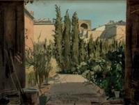 cour et jardin d'une villa italienne by dimitri bouchene