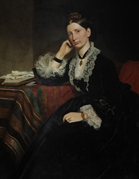 portrait of a lady (+portrait of a gentleman, pair) by norman macbeth