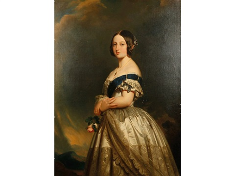 portrait of queen victoria portrait of prince albert pair by franz xaver winterhalter