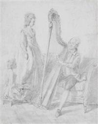 joueur d'harpe by marie-victoire lemoine