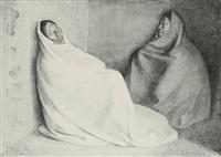 dos mujeres sentadas, state ii by francisco zúñiga