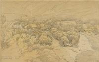 landschaftsstudien (3 works) by johann baptiste heinefetter