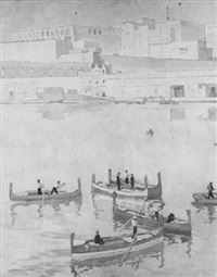 in the grand harbor, valletta by gwyneth m. livsey