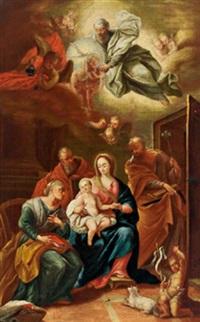 die heilige familie mit dem johannesknaben, joachim und anna by daniel gran