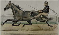 racing trotters (set of 5 works) by scott leighton