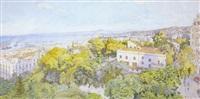 alger - panorama vu du parc de galland by charles pichon