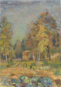 autumn landscape by pavel petrovitch sokolov