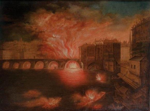 lincendie du pont nemours à lyon le 4 avril by balthazar alexis