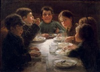 a children's dinner by wally (walburga wilhelmina) moes