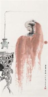 达摩造像 by fu xiaoshi