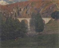 le pont sur la creuse by eugene alluaud