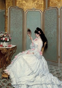 a fair glance by jules emile saintin